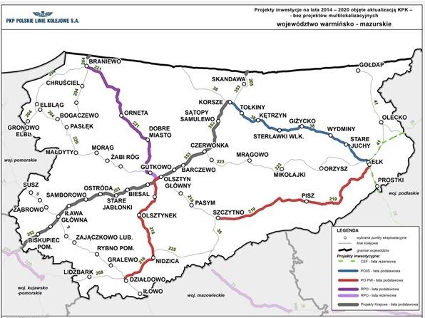 Pkp Mapa Elk Pisz Szczytno Jerzy Wojciech Malecki Posel Na Sejm Rp